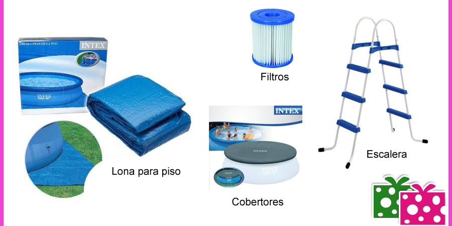 Piscina intex gomon 366 x 91 cm 6734 litros 28146 eg21 for Piscina 8x4 cuantos litros