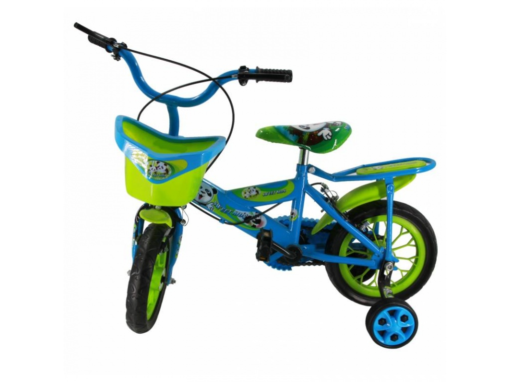 Bici R12 con Canasto Azul con Verde