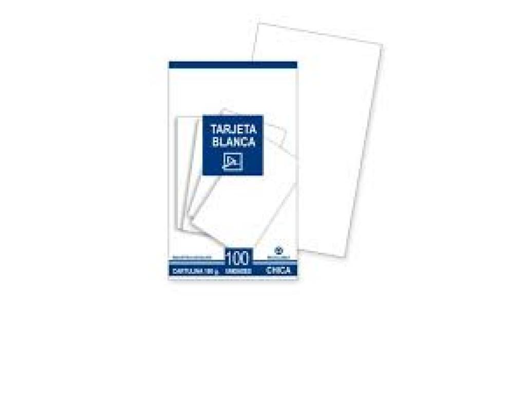 Tarjetas Blancas 9 X 5.5 Lisas