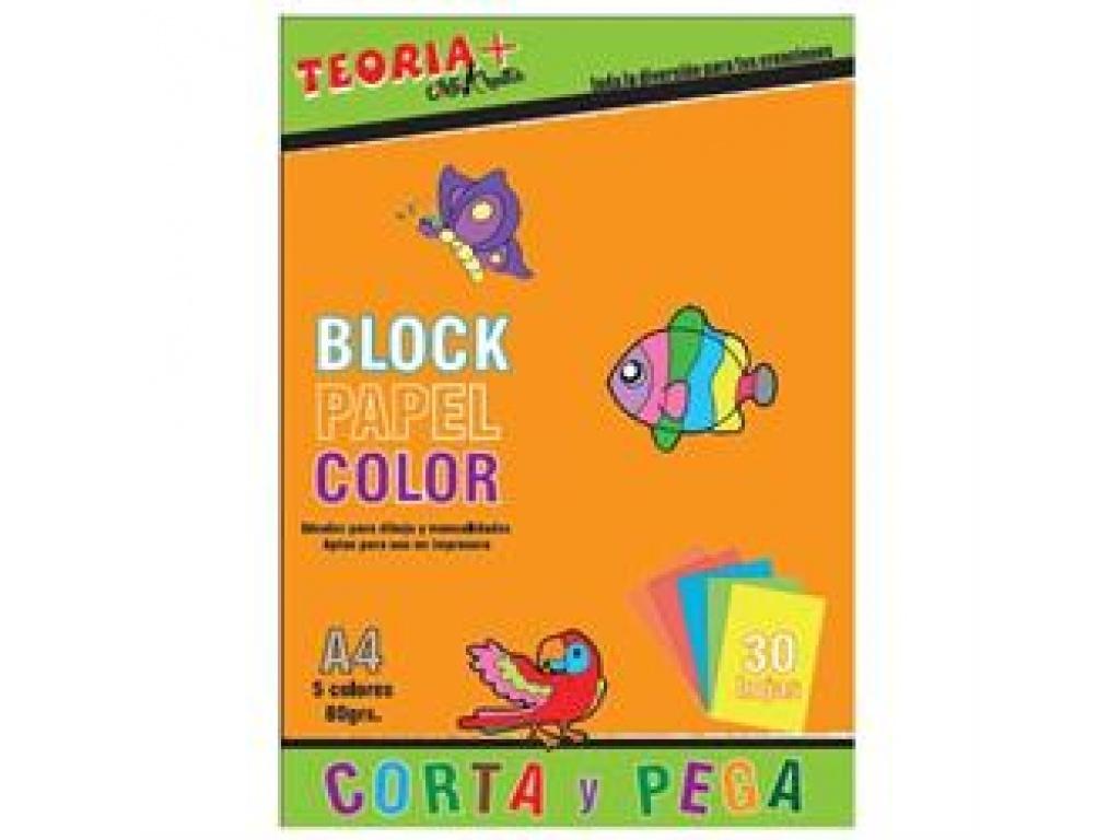 Block Papel A4 80 Grs.x 5 Colores Blocolor
