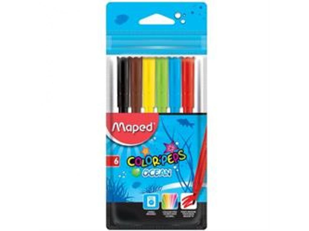 Marcadores Maped Ocean 6 colores
