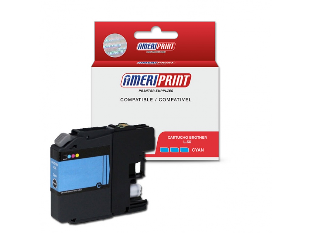 Cartucho compatible brother LC39/LC60/985 Ameriprint Cyan