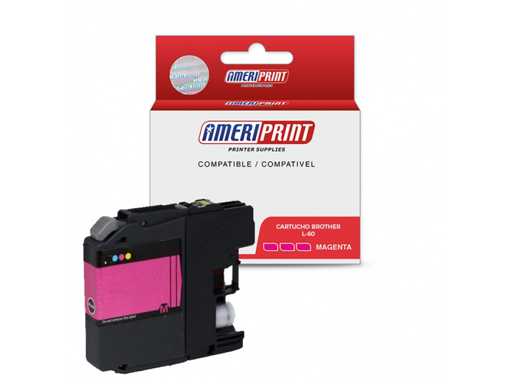 Ameriprint Comp Cartucho Brother LC39/LC60/985 Magenta