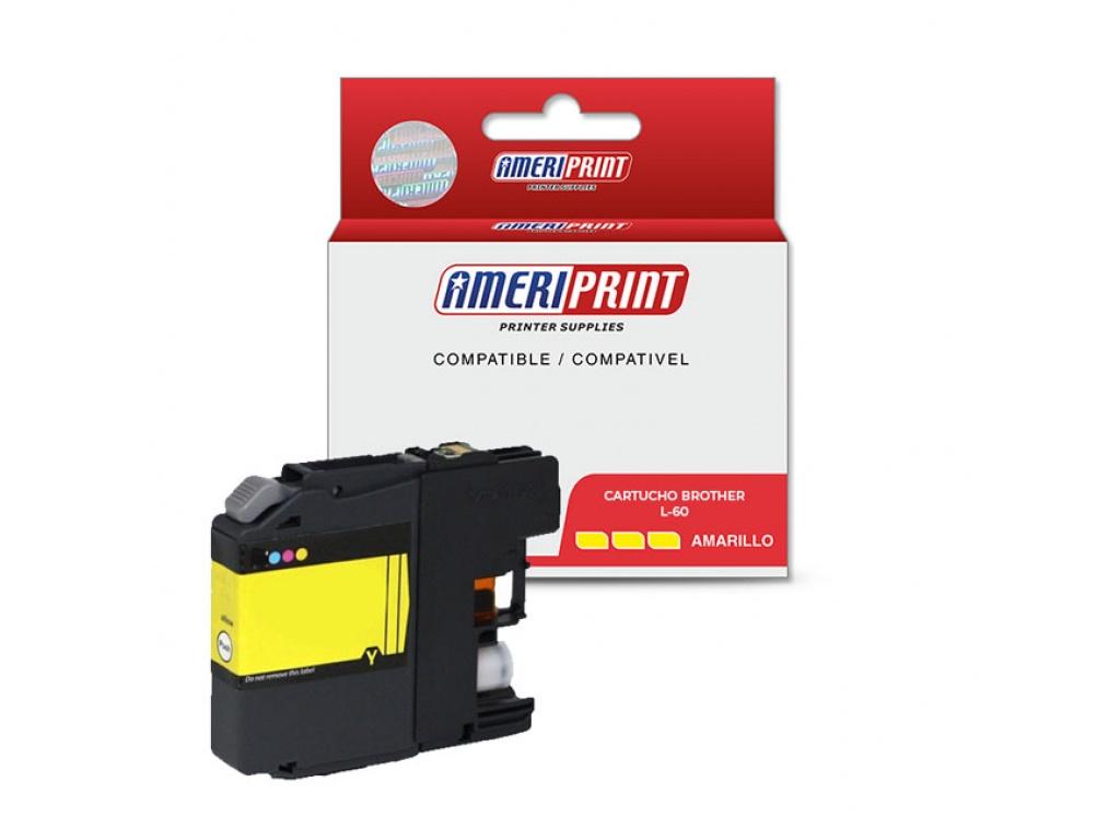 Cartucho compatible brother LC39/LC60/985 Ameriprint Amarillo