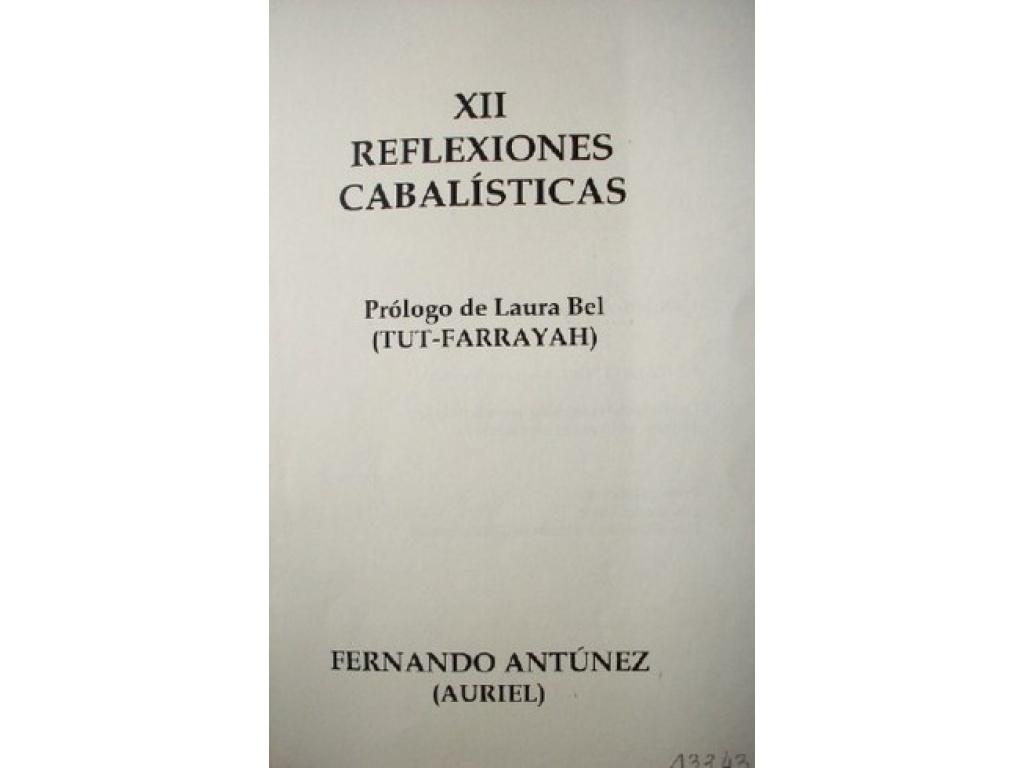 XII REFLECCIONES CABALISTICAS