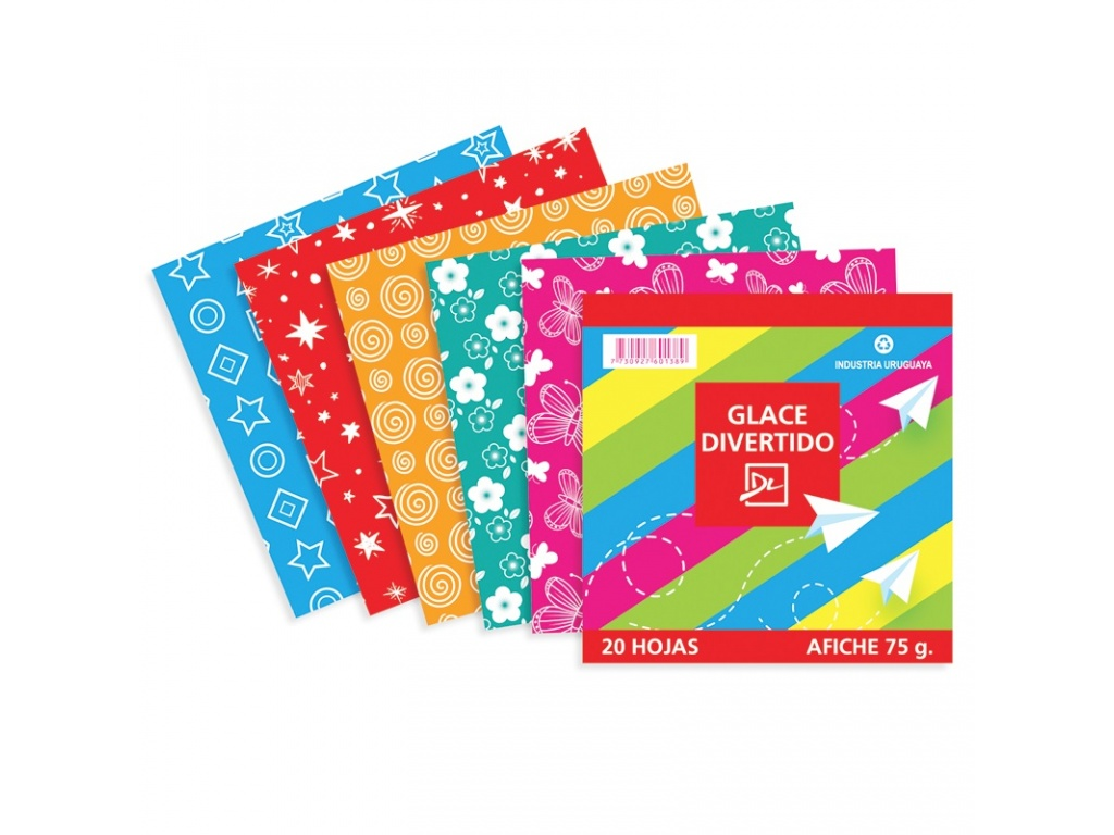Papel Glace Divertido 20 Hojas
