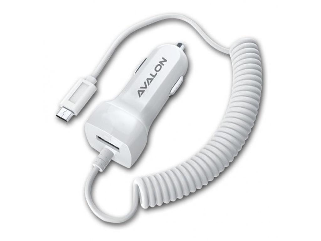 CARGADOR AUTO 2A CON CABLE INTEGRADO Y PUERTO USB