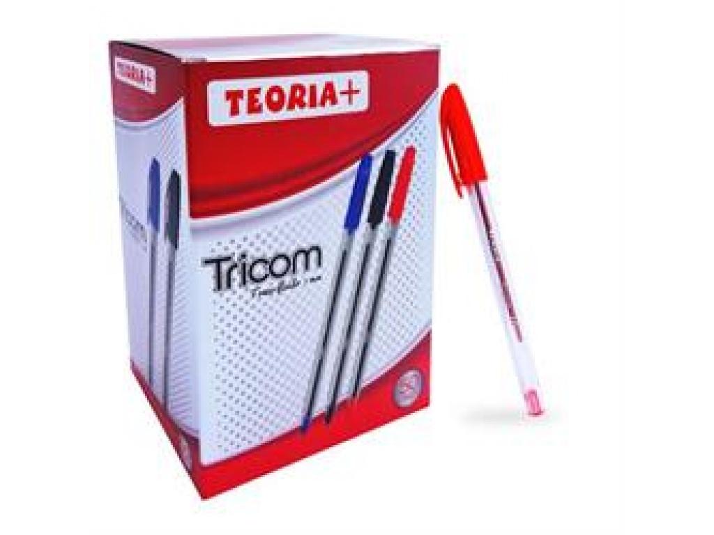 BOLIGRAFO TEORIA+ TRICOM 1 MM ROJO