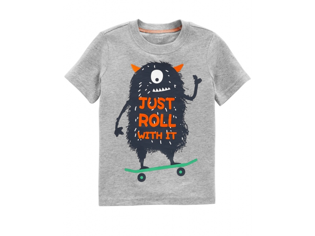 REMERA CARTERS MANGA CORTA MONSTER 12M