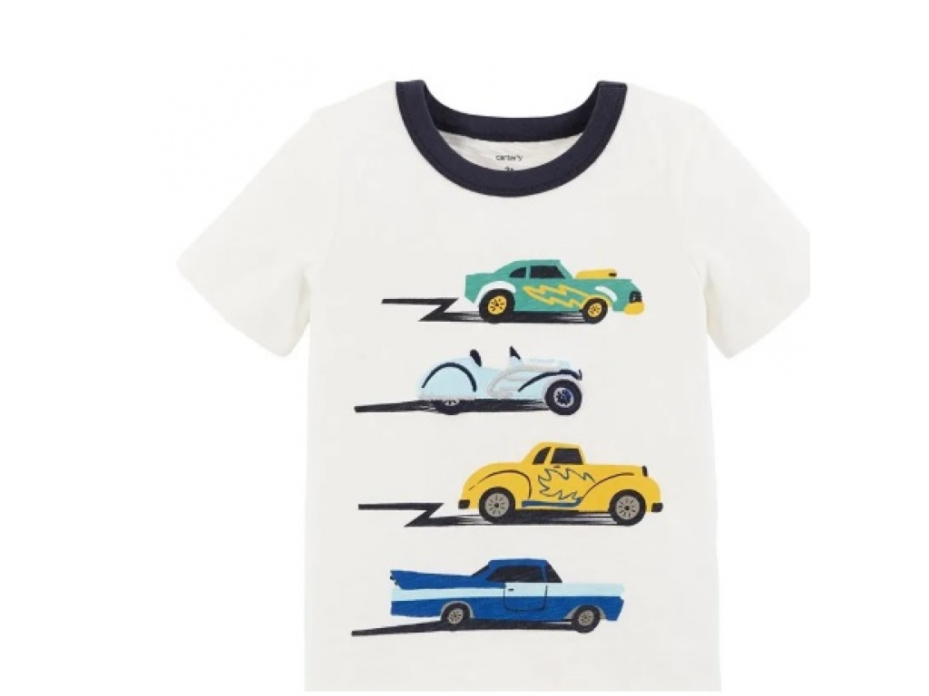 REMERA CARTERS MC ALGODON AUTOS 9M