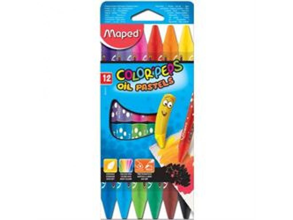 PASTELES AL OLEO MAPED 12 colores